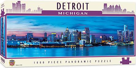 puzzles,detroit,michigan,skyline,panoramic
