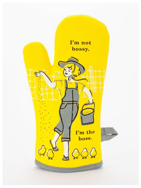 boss,bossy,oven mitt,kitchen,kitchen accessories