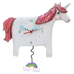 unicorn wall clock,allen designs, michelle allen, cute clocks, whimsical clock