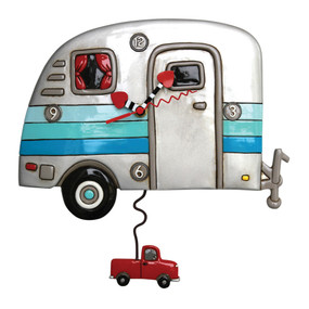 camper wall clock,allen designs, michelle allen, cute clocks, whimsical clock, car wall clock