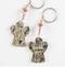 key chain, guardian angel, cross, design, art, religious