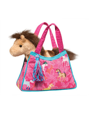 purse, gift for young girls, sassy sak, pink ponies