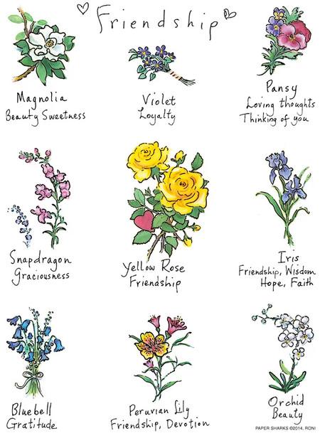 flour sack towel, friendship, flowers, floral