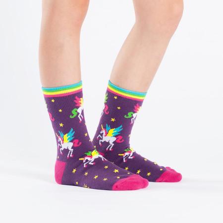 unicorns, socks, rainbows, kids
