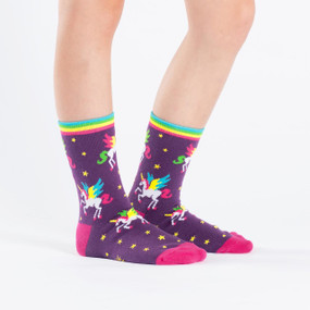 unicorns, socks, rainbows, kids