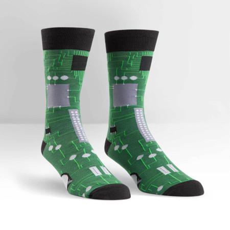 science, circuit board, socks, men