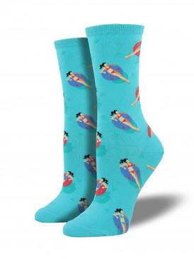 pool, pool party, water, cute, socks, women