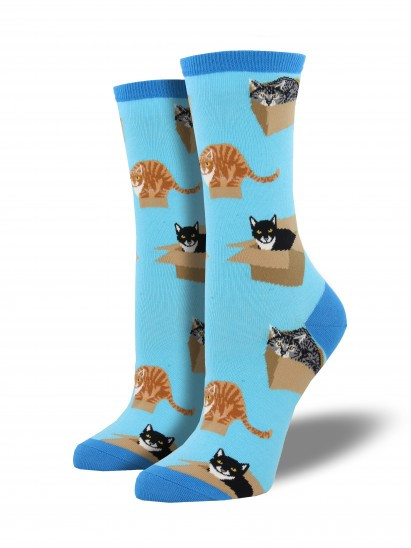 cats, boxes, cat in box, socks, gift for cat lover