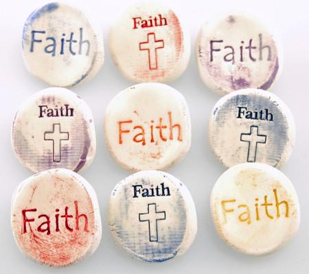 worry stone, pocket token, faith