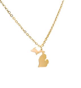 necklace, michigan, mitten, great lakes state, jewelry, state, stylish, beautiful