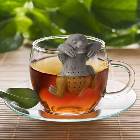 sloth, tea infuser, tea, relaxation, quirky, cute