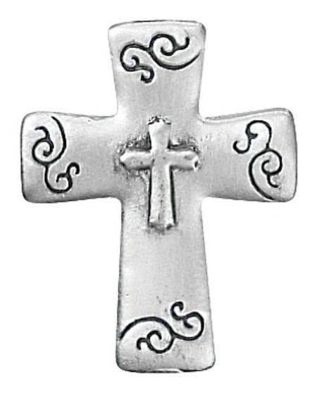 cross token, prayer token, good luck cross
