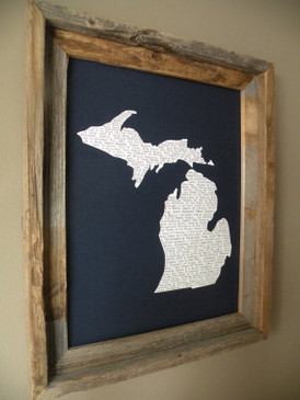 michigan, nutshell, print, words, description, michigan pride