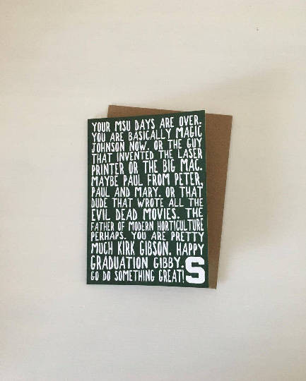 card, graduation, michigan state university