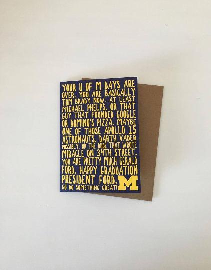 card, graduation, university of michigan