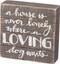 box sign, love, inspirational, whimsical