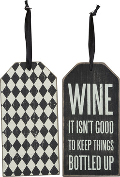 wine, wine tag, sassy, funny, gift