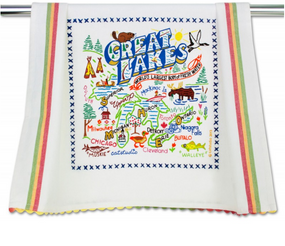 dish towel, michigan pride, michigan, great lakes