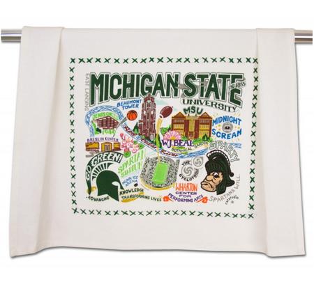 dish towel, michigan pride, msu, michigan state university