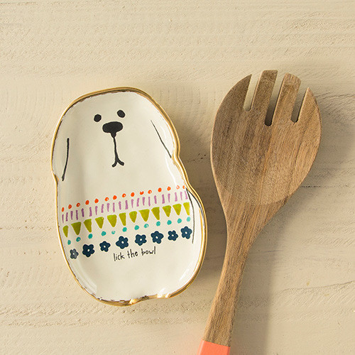 lick the bowl dog spoon rest