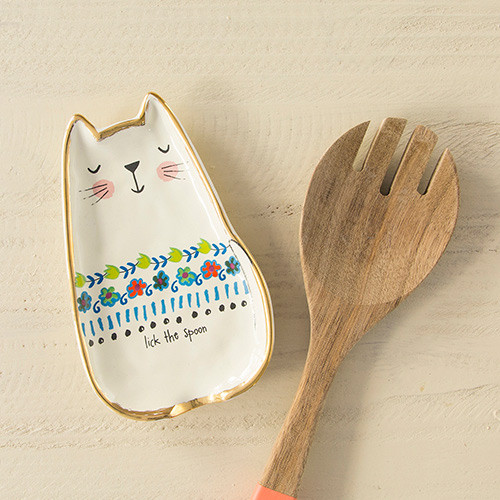 lick the spoon cat spoon rest
