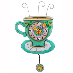 clock, whimsical, allen designs, cute, coffee
