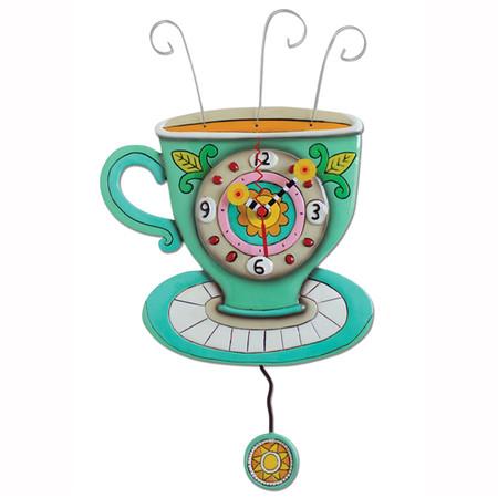 clock, whimsical, allen designs, cute, coffee