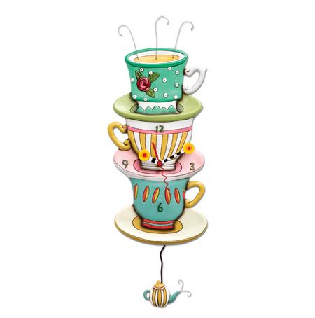 clock, whimsical, allen designs, cute, tea