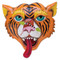 clock, whimsical, allen designs, cute, tiger