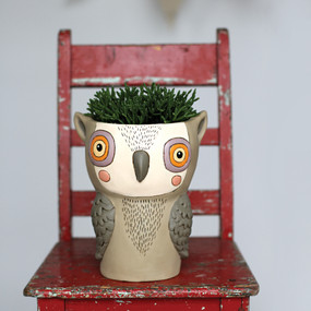 planter, whimsical, plants, garden, cute pots