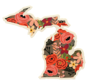 Michigan floral sticker decal, midwest supply company