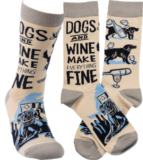 dogs and wine womens socks