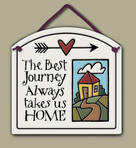 home decor, decoration, tile, wall tile, hanging tile, home, inspirational, housewarming gift, happiness, returning home, return home, come back