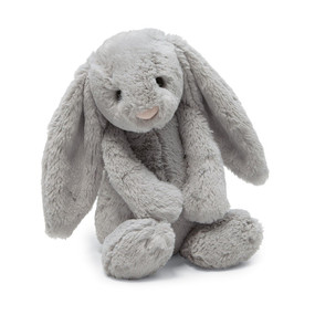 small bashful grey bunny