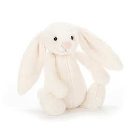 small bashful white  bunny