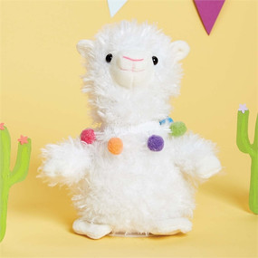 This sweet stuffed llama can speak, move, and repeat what you say! Requires 3 AAA batteries, not included.