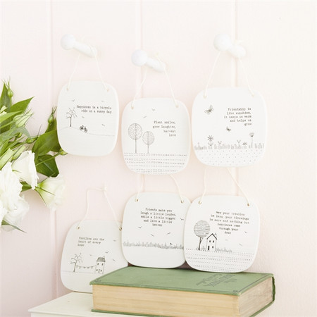 """Sweet Sayings Square Porcelain Picture contains inspirational sayings. 4"""" Sq."""