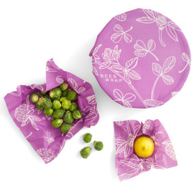 bee's wrap pack, clover print
