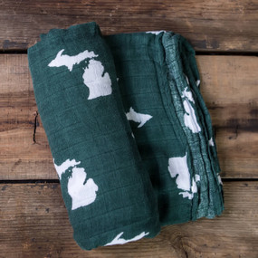 MSU bamboo cotton swaddle