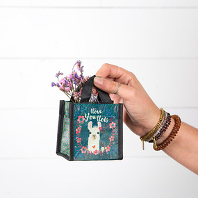 llove you llots llama tiny gift bag