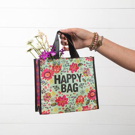 turquoise  happy bag medium gift bag