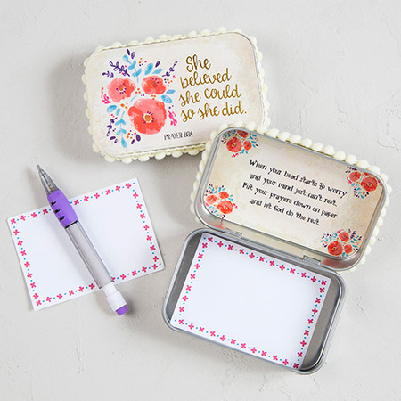 she believed she could so she did prayer box, religion, gift for catechism, gift for baptism, gift for first communion, god