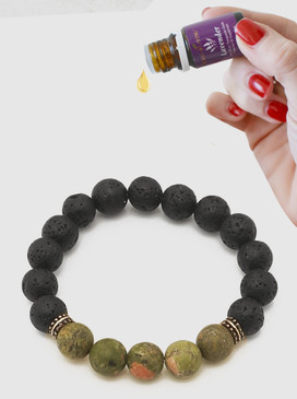 lava bead aroma oil diffusion bracelet