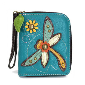 dragonfly wallet, purse, wallet, handbag, dragonfly, wrist strap, faux leather, made by chala