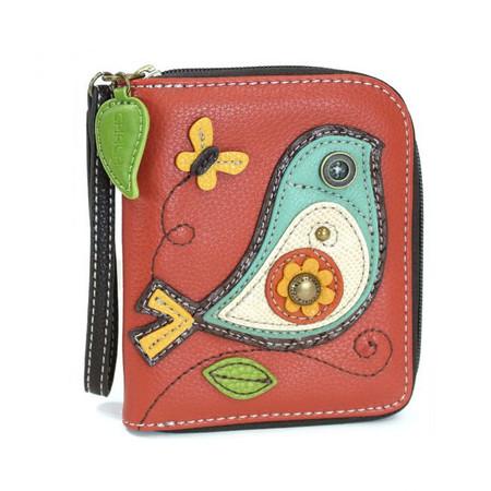 bird wallet, purse, wallet, handbag, bird, bird lovers, wrist strap, faux leather, made by chala