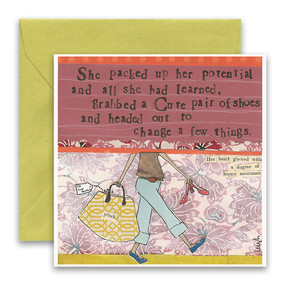 packed up her potential | inspirational card