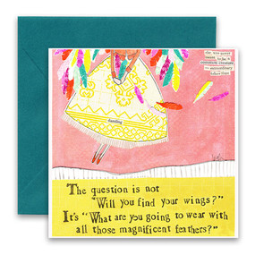 the question is | inspirational card