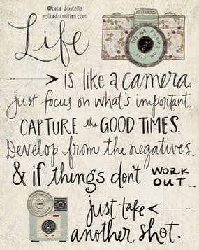 life is like a camera | inspirational card