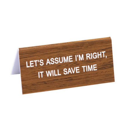 The Hilarious Say What? Office Talk Desk Signs offer the perfect combination of workplace comradery, dry humor and iconic wit. The durable acrylic signs will add a dash of 90's flare to the office and make everyone LOL!