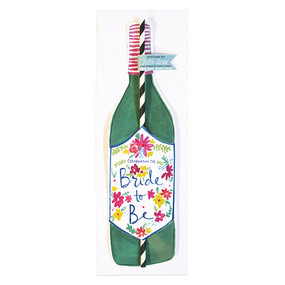 """Celebrating the Bride to Be""This new 'Bride To Be' Bottle Straw Card is perfect for that special someone you know that is about to have their bachelorette party or big day!Our new bottle straw cards help you celebrate, commiserate and everything in between! Finally! We have solved the problem you didn't know you had…how to drink directly from the bottle and still mind your manners! Send someone a single straw card or check out our Bottoms Up! Bottle Straw Packs!Card Measures 13″ x 5″ Flat Card White envelope* Poly-Sleeved *requires additional postage"